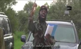 """Capture d'écran d'une vidéo diffusée par Boko Haram le 24 août 2014, où le chef du groupe islamique, Abubakar Shekau, déclare créer un """"califat islamique"""" à Gwoza, au Nigeria"""