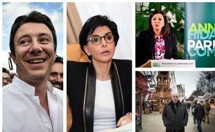 Des candidats à la mairie de Paris (montage).