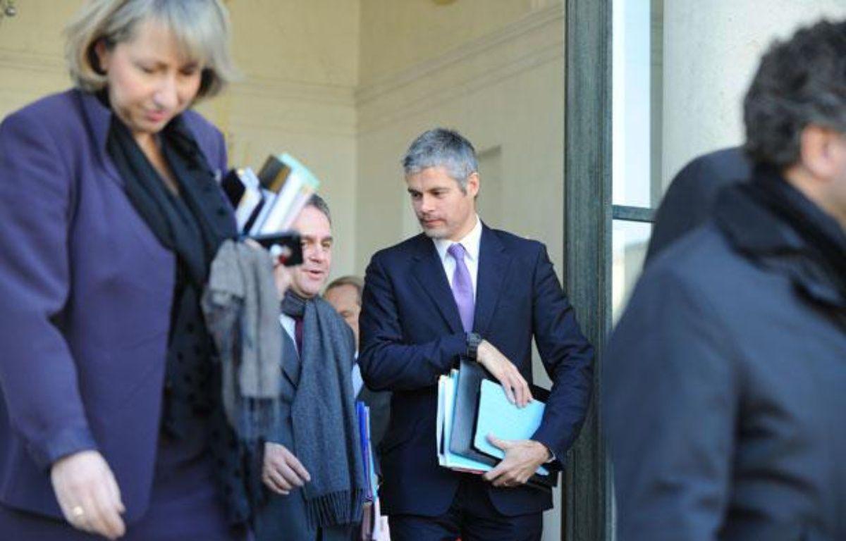 Sortie du Conseil des ministres, le 14 décembre 2011 à Paris. – WITT/SIPA
