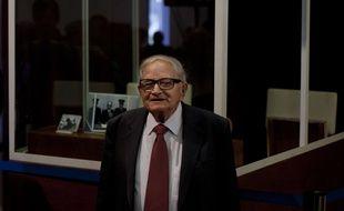 L'ex-agent du Mossad Rafi Eitan au Parlement israélien à Jérusalem, le 12 décembre 2011.
