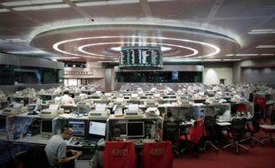 Le parquet de la Bourse de Hong Kong le 12 août 2015