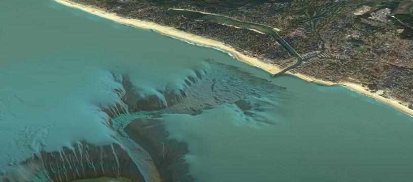 Le gouf de Capbreton est un canyon sous-marin de 300 km de long, dont la tête se situe tout près de la côte landaise