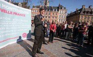 Arnaud Montebourg, place du Général-de-Gaulle à Lille, lors des primaires PS le 26 septembre 2011.