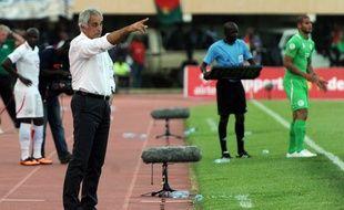 Vahid Halilhodzic, le sélectionneur algérien, lors du match Burkina Faso -Algérie le 12 octobre 2013