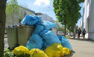 Les poubelles s'accumulent à Nantes (archives)