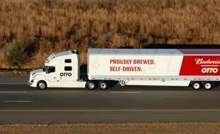Le premier camion sans chauffeur d'Otto, filiale d'Uber, le 25 octobre 2016.