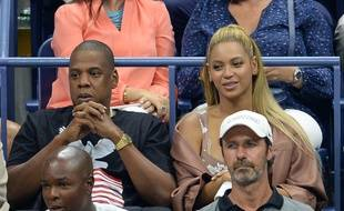 Les époux Jay-Z et Beyoncé au stade Arthur Ashe à New York