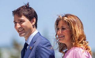 Justin Trudeau et sa femme, Sophie Grégoire Trudeau.  GEOFF ROBINS / AFP