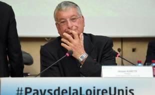 Le président du Conseil régional des Pays de la Loire, Jacques Auxiette, le 13 mai 2014 à Nantes