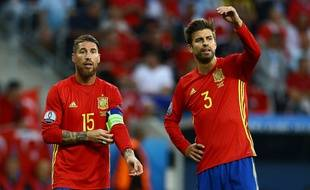 Gerard Piqué et Sergio Ramos