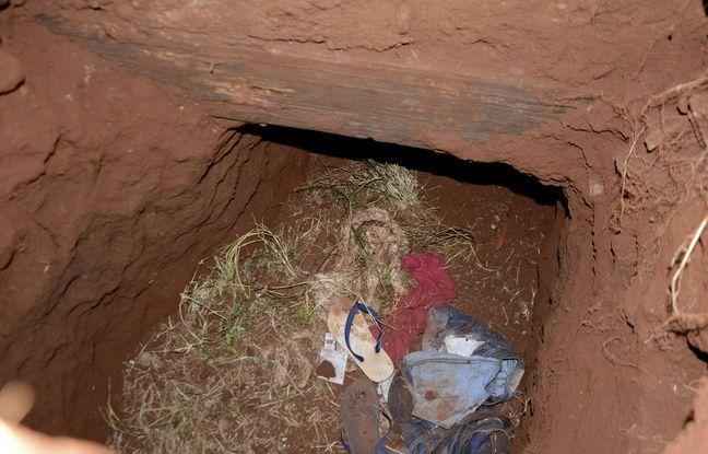 L'entrée d'un tunnel à la prison de Pedro Juan Caballero le 19 janvier 2020.