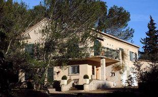 Photo prise le 29 janvier 2013, dans le sud est de la France, du domicile du suspect dans la mort d'une joggueuse à Courbessac.