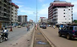 Une rue à Conakry, capitale de la Guinée (illustration).