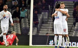 Prêté par le TFC, Alexis Blin a inscrit le seul but d'Amiens à Toulouse, le 10 novembre 2018 au Stadium.