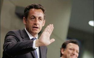 """Le président français Nicolas Sarkozy a réaffirmé mercredi à Bruxelles que son idée de traité simplifié était """"la seule solution possible"""" en lançant un vibrant appel pour que l'Europe rompe avec l'immobilisme."""