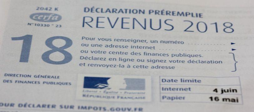 Une déclaration d'impôts.