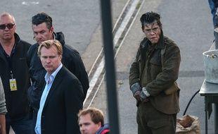 Le réalisateur Christopher Nolan et Harry Styles sur le tournage de Dunkerque
