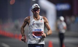 Yohann Diniz lors des Mondiaux d'athlétisme, à Doha (Qatar), le 19 septembre 2019.