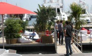 Le patio Canal, l'espace de Canal+ à Cannes