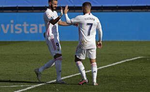 Le Real Madrid a battu Huesca grâce à des buts de Hazard et Benzema, le 31 octobre 2020.