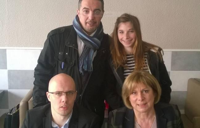 Audrey Lledo, en haut à droite, la plus jeune candidate du FN à Montpellier
