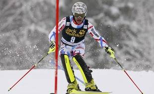 Julien Lizeroux lors du slalom de Kranjska Gora le 6 mars 2016.