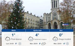 Météo Saint-Etienne: Prévisions du dimanche 20 janvier 2019