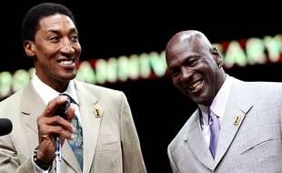 Scottie Pippen et Michael Jordan en 2011.