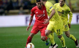 Firmino lors de la demi-finale aller de Ligue Europa Villarreal-Liverpool (1-0), le 28 avril 2016.