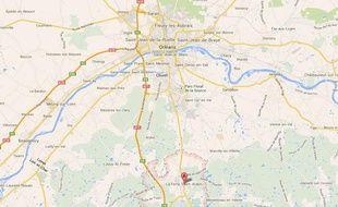 Google map de La Ferté Saint Aubin (Loiret).