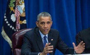 Le président des Etats-Unis Barack Obama au ministère de l'Agriculture à Washington, le 6 octobre 2015