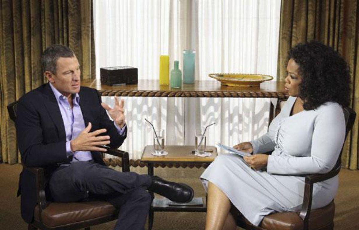 L'ex-cycliste américain Lance Armstrong, lors de son interview avec Oprah Winfrey, les 17 et 18 janvier 2013  – AP Photo/Sipa