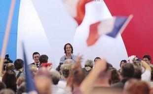 Ségolène Royal, le 8 mai 2011, salle des Blancs-manteaux à Paris, lors d'une Université populaire de son mouvement Désirs d'avenir.