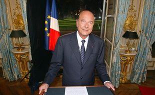 Jacques Chirac à l'Elysée, le 31 décembre 2002.