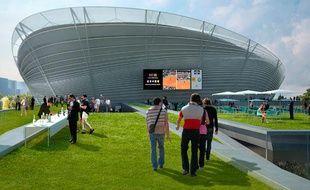 Le nouveau Roland-Garros imaginé par Marc Mimram, le 18 mai 2009.
