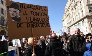 Grève des enseignants le 19 mars 2019 à Marseille.