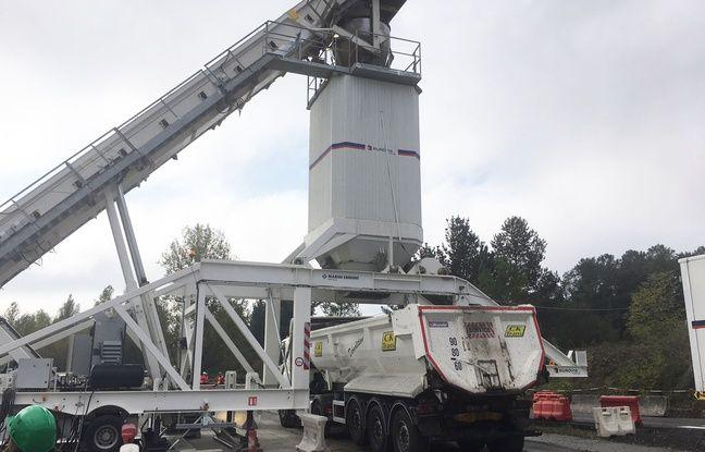 L'usine mobile d'Eurovia et Marini-Ermont est capable de fabriquer un enrobé entre 70% et 100% recyclé.