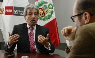 Manuel Pulgar, le ministre péruvien de l'environnement, interviewé, à Lima, en août 2014.