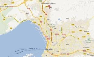 Google Map du 15e arondissement de Marseille.