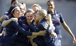 Les joueuses de l'Olympique Lyonnais, le 10 avril 2010.
