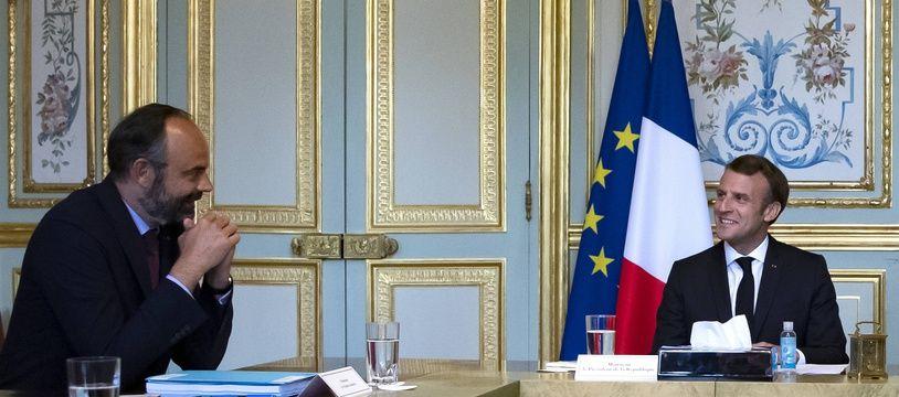 Edouard Philippe et Emmanuel Macron lors d'une réunion à l'Elysée (archives).