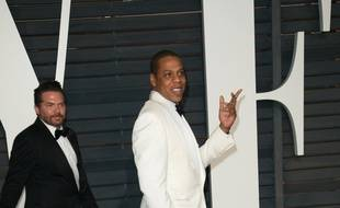 Le rappeur JAY-Z à la soirée Vanity Fair des Oscars en 2015