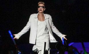 Justin Bieber au Anhembi Convention Center, à Sao Paulo, au Brésil, le 2 novembre 2013.