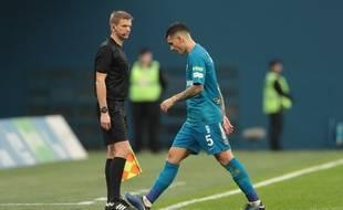 Leandro Paredes a été expulsé lors d'un match entre le Zénith Saint-Pétersbourg et Grozny, le 4 novembre 2018.