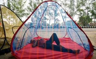Une tente moustiquaire vendue en Inde.