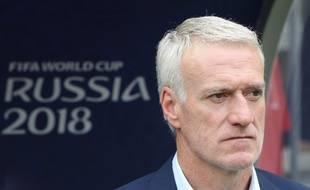 Didier Deschamps lors du match France-Danemark en Coupe du monde, le 26 juin 2018.