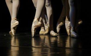 Illustration de pointes de ballet traditionnelles.