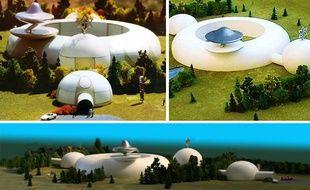 Maquette de l'ambassade que les Raéliens voudraient construire pour accueillir le retour des extra-terrestres sur Terre.