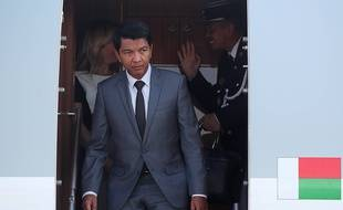 Le président de Madagascar Andry Rajoelina, le 22 octobre 2019 à Sotchi.