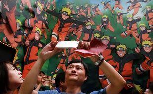 Une exposition sur Naruto à Taiwan en 2013.